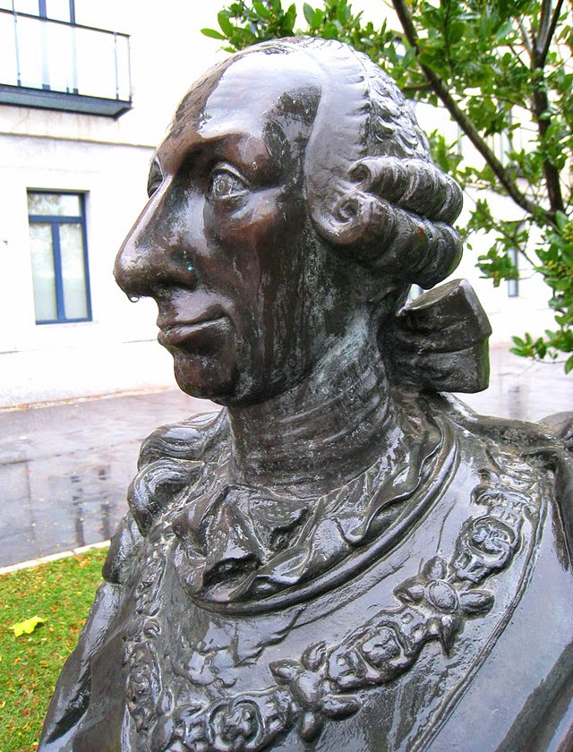 Bust of King Charles III in Universidad Carlos III in Madrid