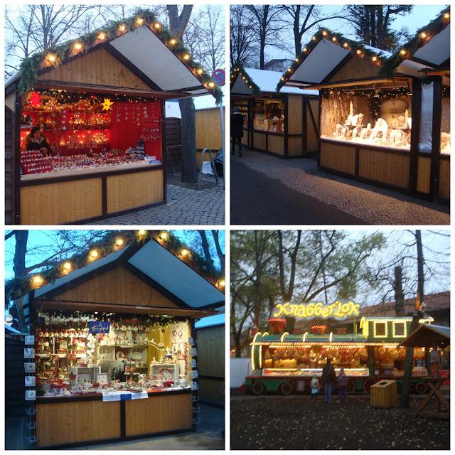 Mercado de Natal no Palácio de Charlottenburg