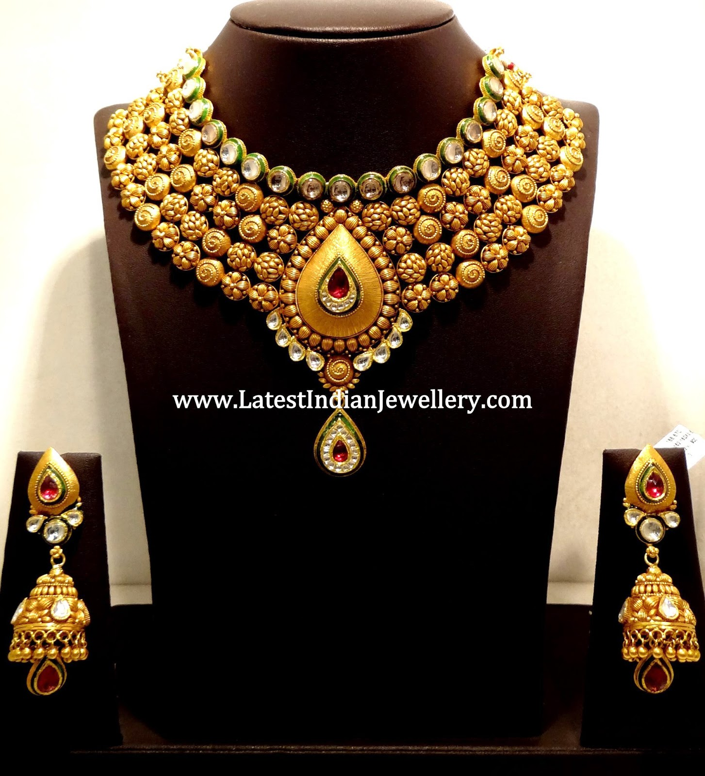 5 Line Heavy Antique Jewellery Design Latest Indian