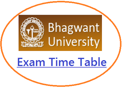 Bhagwant University Exam Schedule 2021