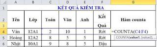 tinhoccoban.net - Hàm Counta trong Excel