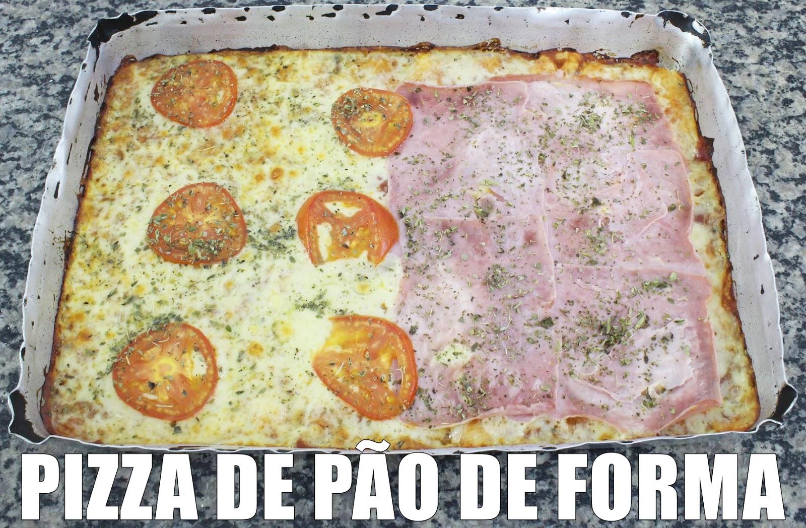 receita pizza de pão de forma