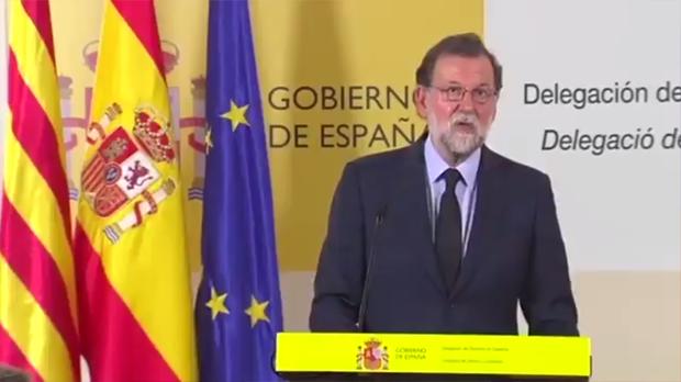 """Mariano Rajoy: """"Toda España se conmueve con el mismo sentimiento que Barcelona"""""""