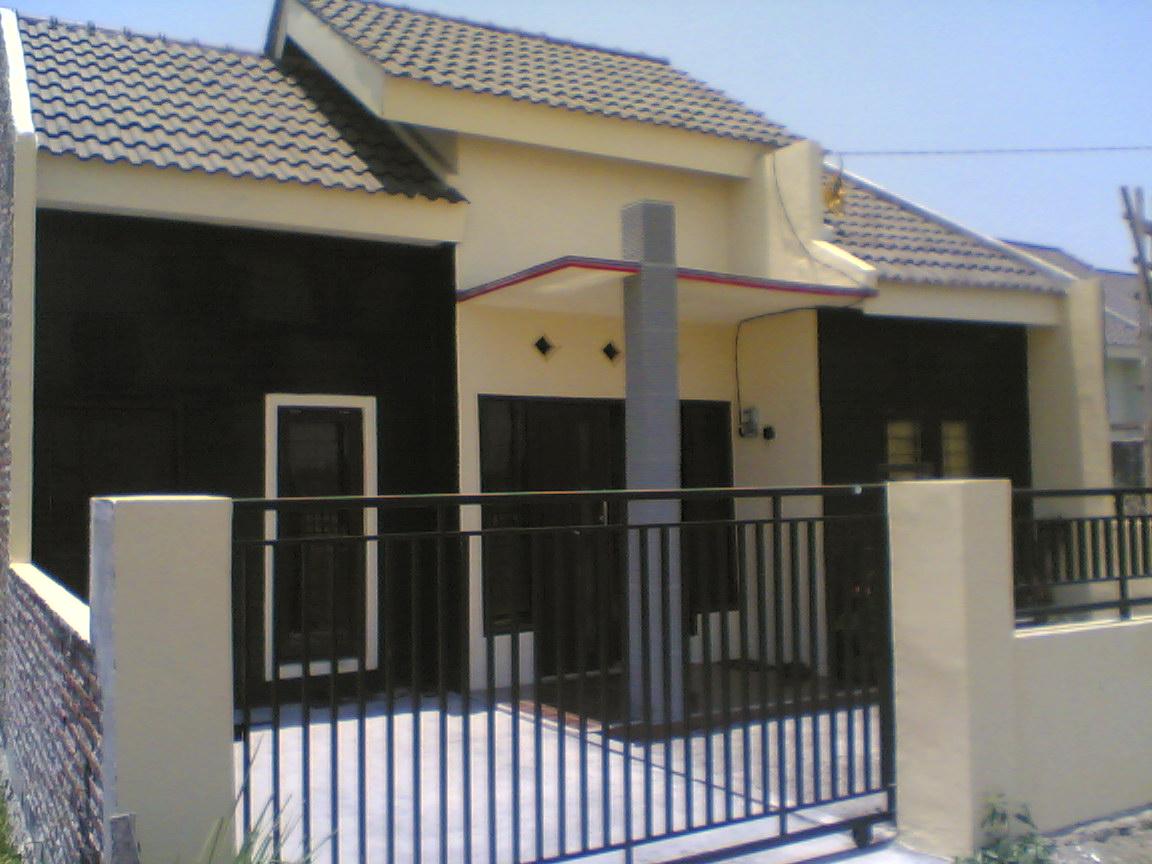 Model pagar rumah minimalis sederhana type 45