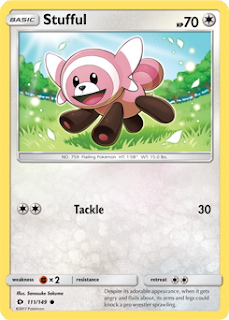 Stufful Sun and Moon Pokemon Card