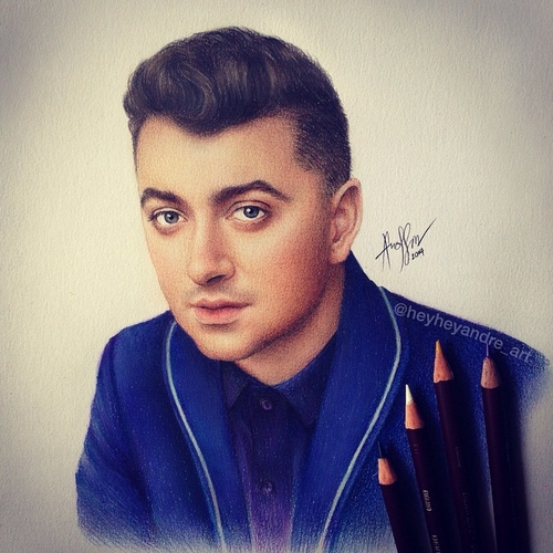 16-Sam-Smith-André-Manguba-Celebrities-Drawn-and-Colored-in-with-Pencils-www-designstack-co