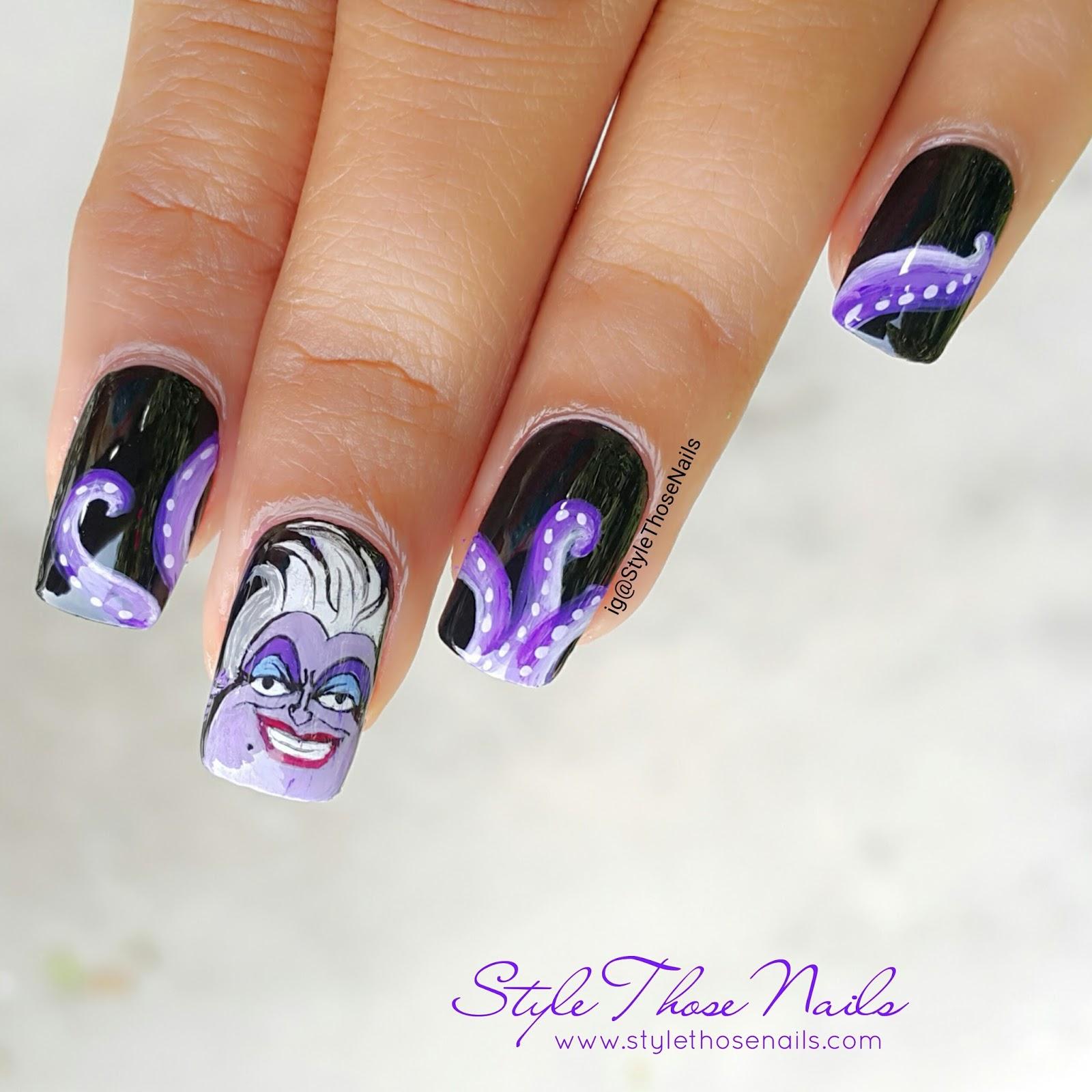 Style Those Nails Ursula Nailart Video Tutorial Teamnailvillain