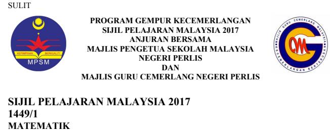 Koleksi soalan percubaan Matematik SPM 2017 Perlis