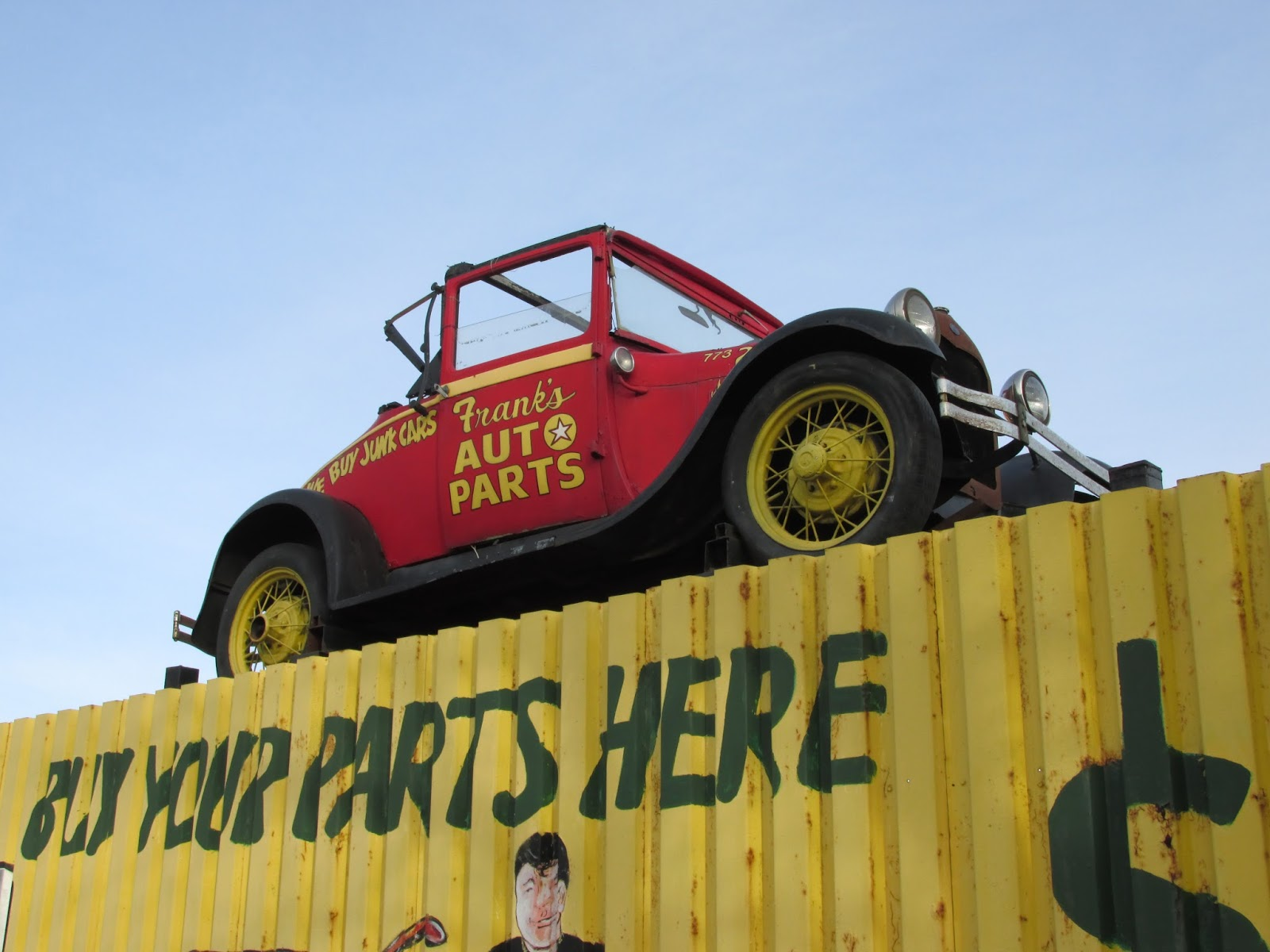 Franks Auto Salvage >> Eddie's Rail Fan Page: Frank's Auto Parts. An old