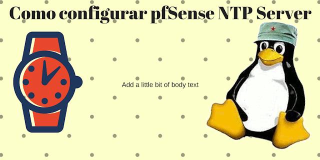 Como configurar pfSense NTP Server