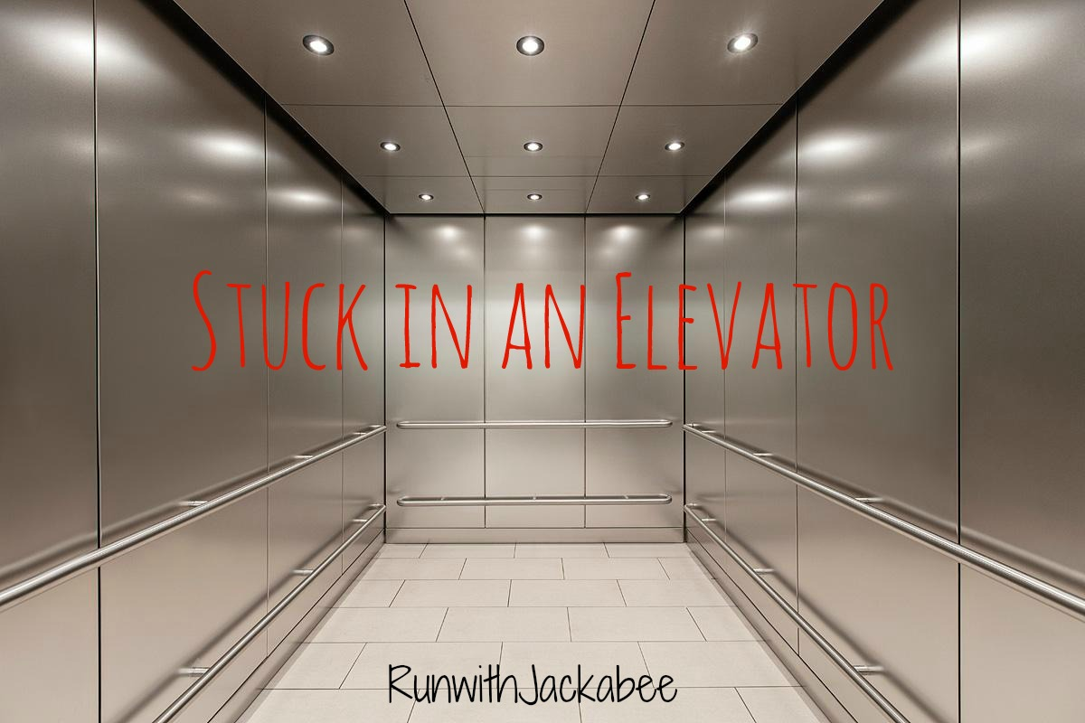 stuck in elevator Stuck in the elevator is an exploitable four-panel comic series in which a man  begins to panic while trapped in an elevator after the woman he is confined with.