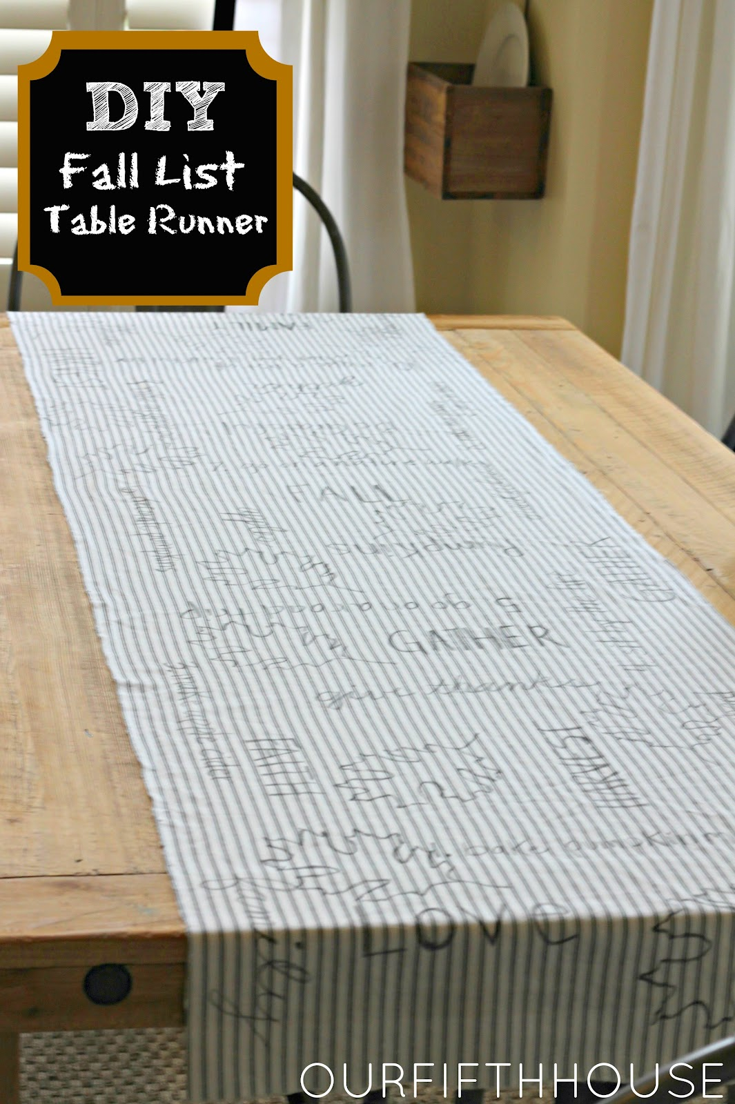 Diy Fall List Table Runner Our Fifth House