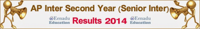 Andhra Pradesh Inter Second(2nd) Year/Senior Inter Results 2014