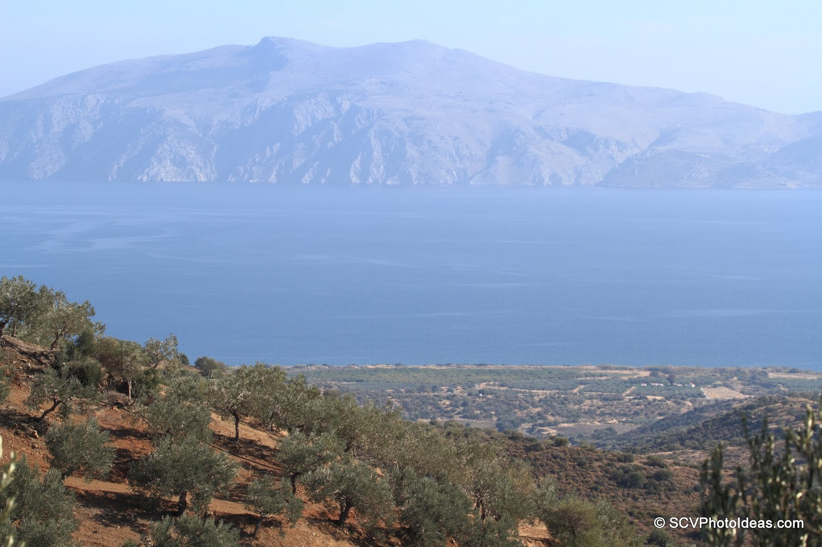 The bay of Hydra from above