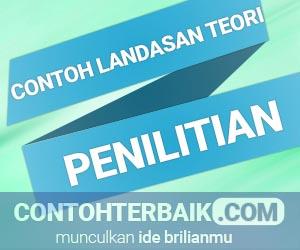 Contoh Landasan Teori Penelitian