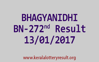 BHAGYANIDHI BN 272 Lottery Results 13-01-2017