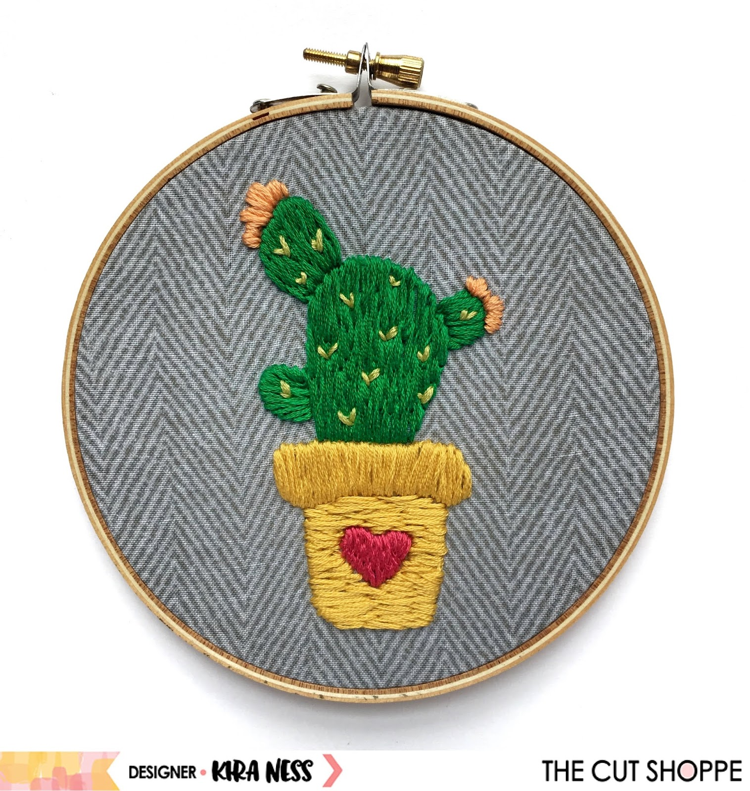 The Cut Shoppe Cactus Embroidery With Kira