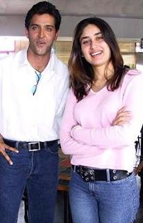 Foto Kareena Kapoor dengan Hrithik Roshan