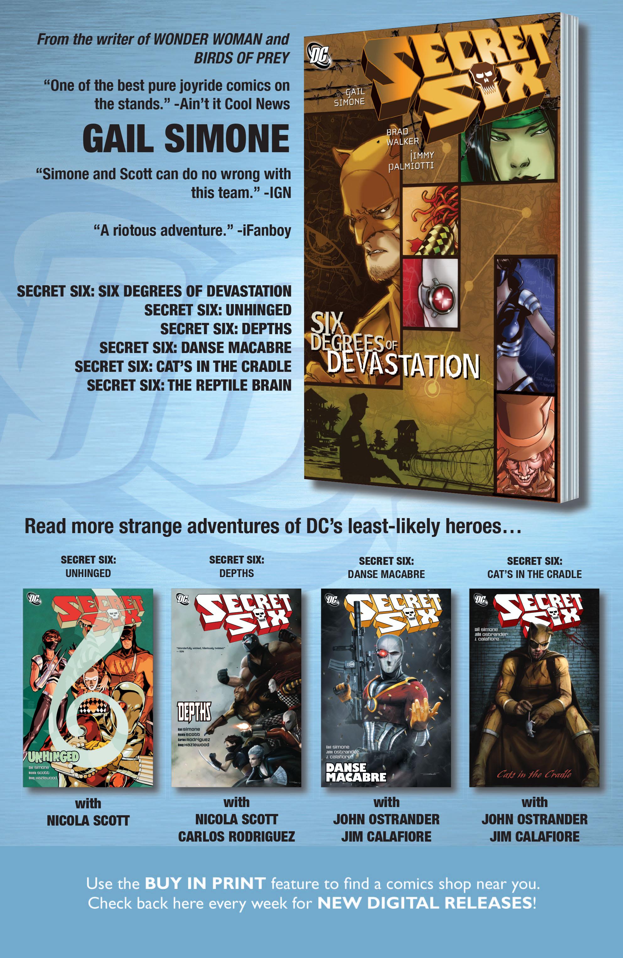 Read online Secret Six (2008) comic -  Issue #19 - 24