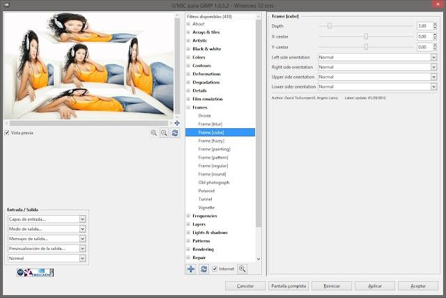 G´MIC v2.3.2 para GIMP 2.10 | Amplia las posibilidades de Gimp con más de 250 increibles filtros y efectos
