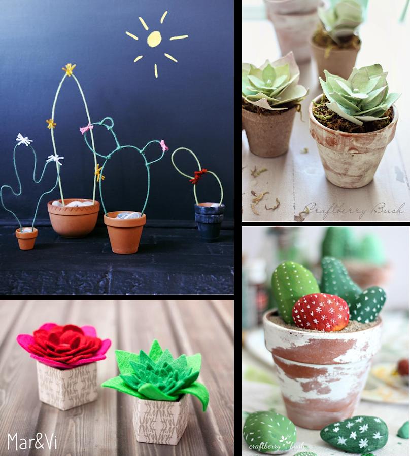 4 tutoriales para realizar cactus decoraci n - Tutoriales de decoracion ...
