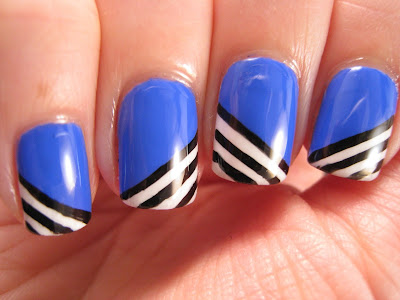 Blue-My-Mind-black-and-white-stripes-nail-art