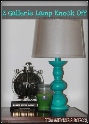 from Gardners 2 Bergers: Z Gallerie Lamp Knock Off