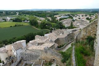 Vistas desde la terraza del Castillo de Grignan.