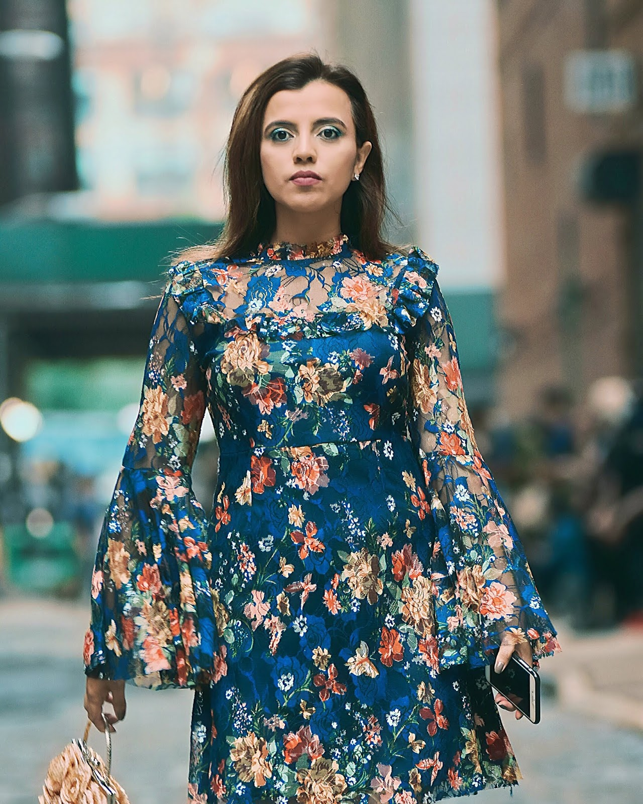 Dan Liu-nyfw-theshows-mariestilo-lookoftheday-fashionblogger-print dress-