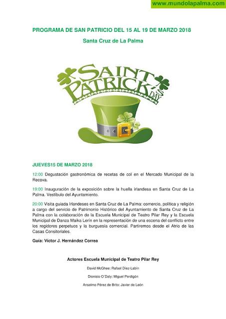 Programa de actos Día de San Patricio Santa Cruz de La Palma 2018