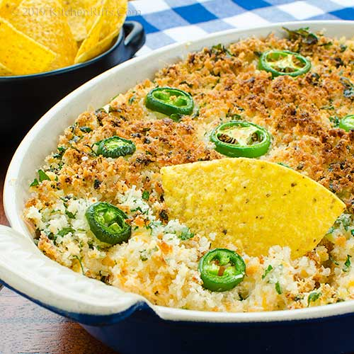 Kitchen Riffs Baked Jalapeno Popper Dip
