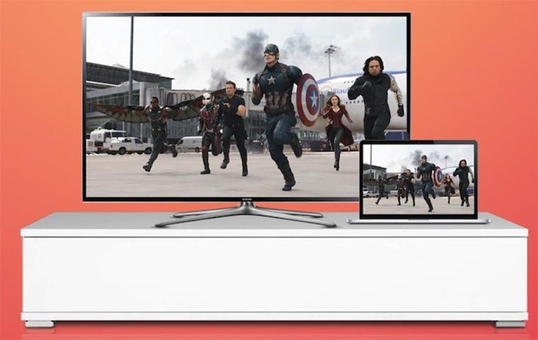 Gambar ilustarasi Airplay Mirroring dari iphone ke Apple TV