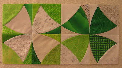 Two Chic Country quilt blocks sewn together