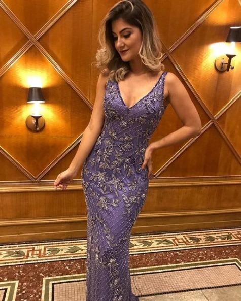 vestido de festa roxo violeta