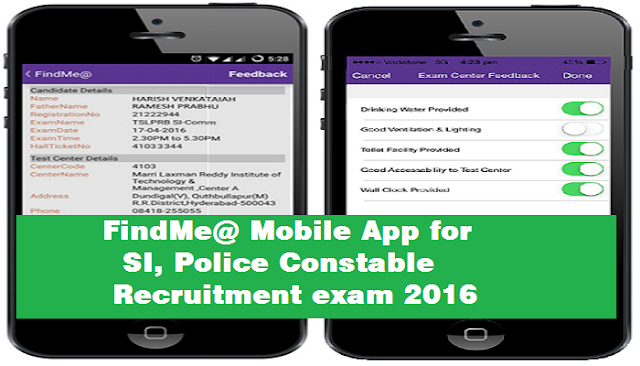 FindMe@ Mobile App,SI Police Constable,Recruitment exam