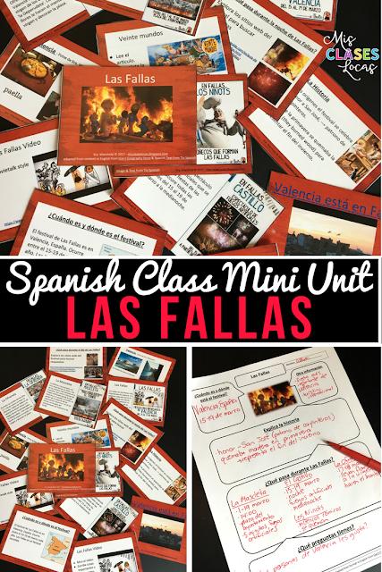 Las Fallas - Mini unit for Spanish class  - Mis Clases Locas