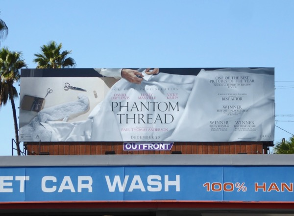 Phantom Thread movie billboard
