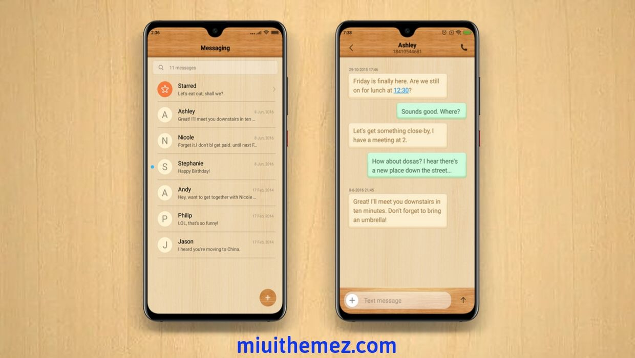 Wooden Style MIUI 10 Theme