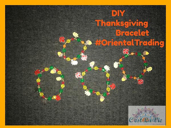 DIY Thanksgiving Bracelet #OrientalTrading