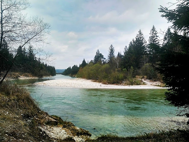 Wolfratshausen, Isar, Loisach, Izara, rzeka, natura