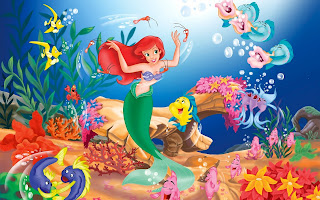 Wallpaper cartoon, the little mermaid, Ariel, fish pictures