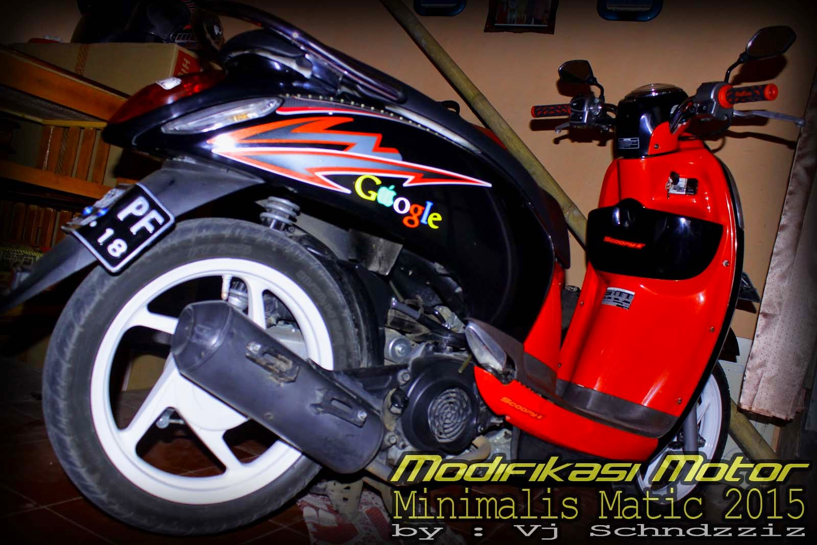 Modifikasi Motor Matic Honda Terbaru 2017 Scoopy