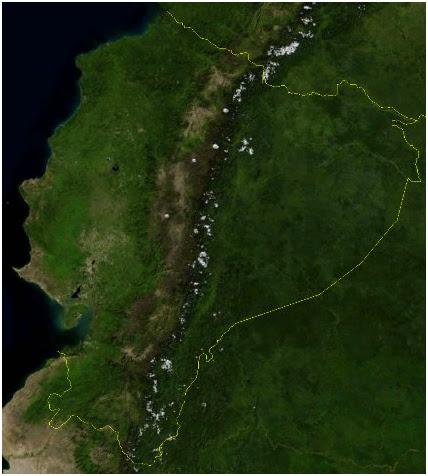 mapa satelital ecuador