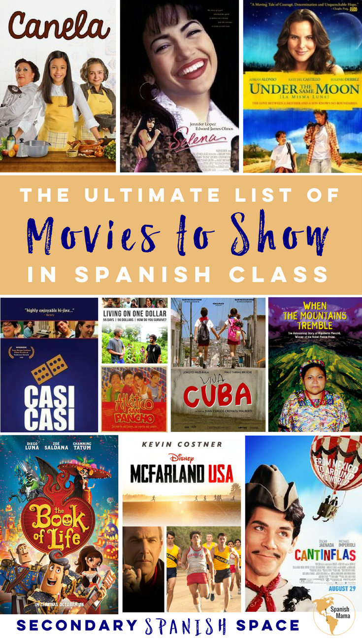 the ultimate list of movies to show in spanish class secondary spanish space. Black Bedroom Furniture Sets. Home Design Ideas