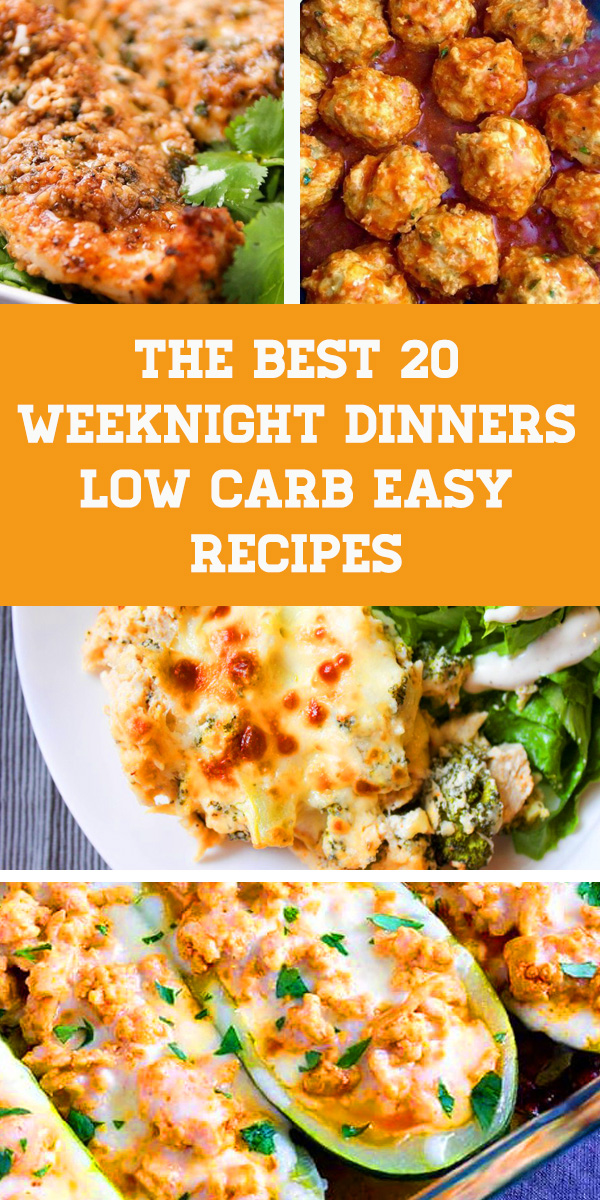 This is an ultimate collection of the BEST Weeknight dinners low carb easy recipes.These delicious keto recipes will make you forget you are even on a ketogenic diet because they are so full of flavor! There are 20 of Weeknight dinner low carb easy recipe ideas. Low Carb, Grain Free, Gluten Free, Sugar Free, THM S. #keto #lowcarb #dinner #glutenfree #sugarfree #ketodiet #ketogenic #ketodinner #weeknight #weeknightdinner #lowcarbdinner #easydinner