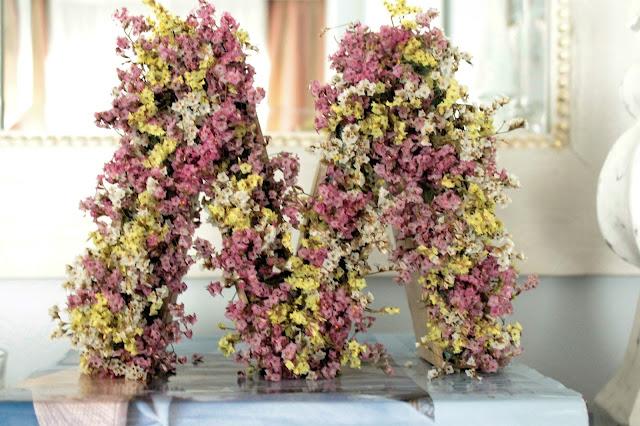 Tarde de hadas diy letra con flores secas - Plantas secas decoracion ...