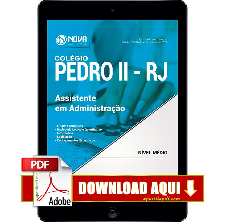 Apostila Colégio Pedro II 2017 PDF Download Assistente em Administração