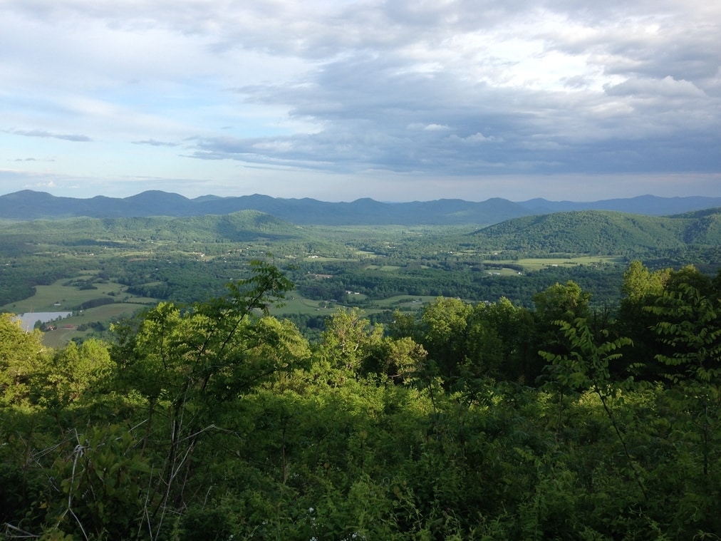 A view of the Blue Ridge Mountains