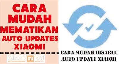 cara mematikan auto update xiaomi
