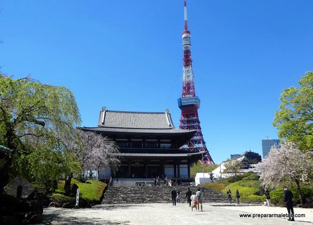 templo Zojoji y Torre de tokio